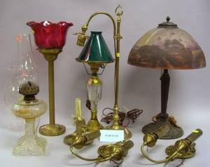 Fourteen Pieces of Assorted Lighting and Lighting Accessories