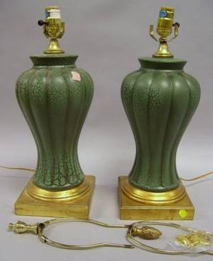 Pair of Decorative Glazed Ceramic Table Lamps