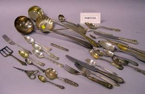 Approximately 160 Pieces of Assorted Sterling Coin and Silver Plated Flatware