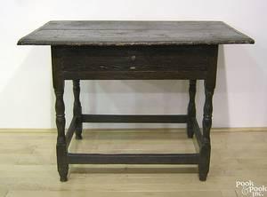 New England pine tavern table mid 18th c
