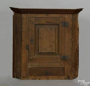 Pennsylvania walnut hanging corner cupboard ca 1770