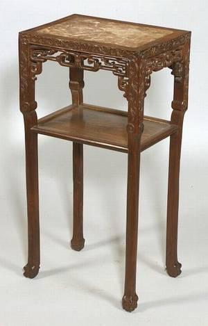 Carved Rosewood Tabouret