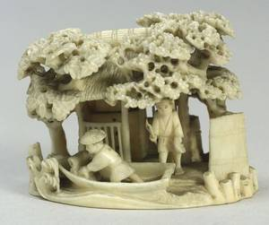 Carved Ivory Model of a House