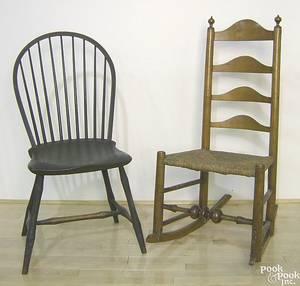 Pennsylvania bowback windsor side chair ca 1820