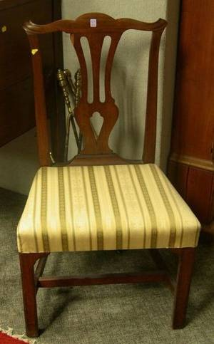 Country Chippendale Chestnut Side Chair
