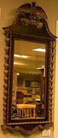 Federalstyle Gilt Gesso and Mahogany Veneer Mirror