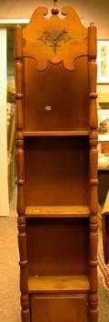 Maple Colonial Revival Tall ClockBookshelf