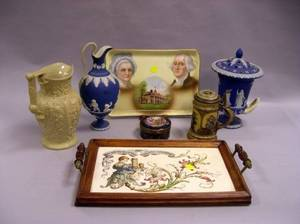 Seven Assorted English and Continental Decorated Ceramic Items