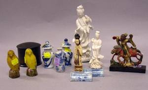 Group of Twelve Assorted Small Asian Decorative Figures and Items