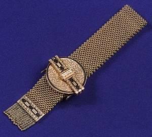 Antique 14kt Gold Slide Bracelet