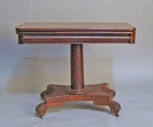 Empire mahogany game table