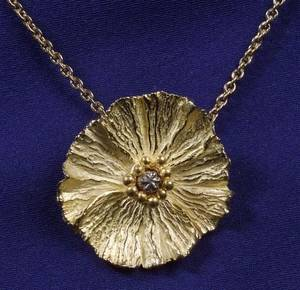 22kt and 18kt Gold and Platinum Pendant Necklace Bass