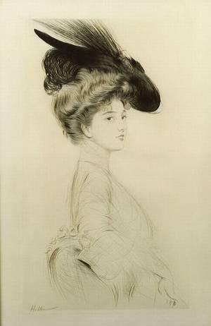 Paul Cesar Helleu French 18591927 Femme au Chapeau