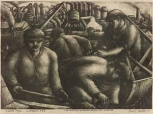 Paul R Meltsner American 19051966 Industrial Landscape