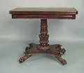 Philadelphia late Federal mahogany card table attributed to Thomas Roberts ca 1835
