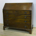 New England Federal mahogany slant front desk late 18th c
