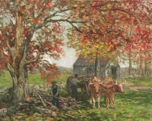 Winfield Scott Clime American 18811958 The Ox Cart