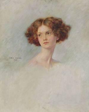 Emil Fuchs American 18661929 Head of a Girl
