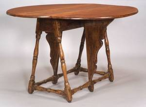William  Mary Figured Maple Butterfly Table