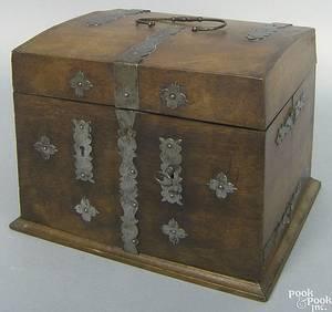 English mahogany doctors apothecary chest ca1800