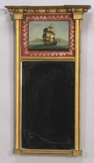 Federal Gilt Looking Glass