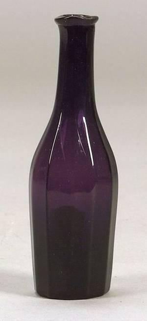 Dark Amethyst BlownMolded Glass Cologne Bottle