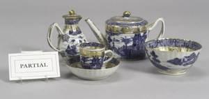 TwentyPiece Giltdecorated Nanking Porcelain Partial Tea Set