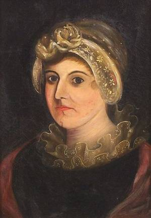 Attributed to Thomas Ware American 18031827 Portrait of Mary Polly Ware Thompson 1795