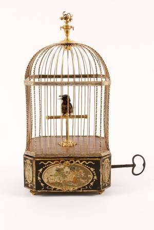 Fine 19th C Singing Bird Automaton wDiamonds