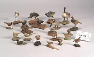 Twentythree Assorted Miniature Bird and Waterfowl Figures