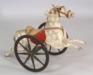 Carved and Painted Wooden Childs Riding Horse
