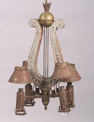 Neoclassical FourLight Chandelier