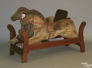 Painted rocking horse