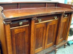Classical Mahogany and Birdseye Maple Sideboard