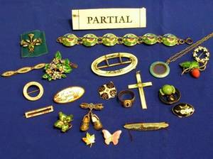 Group of Enameled Silver and Metal Jewelry