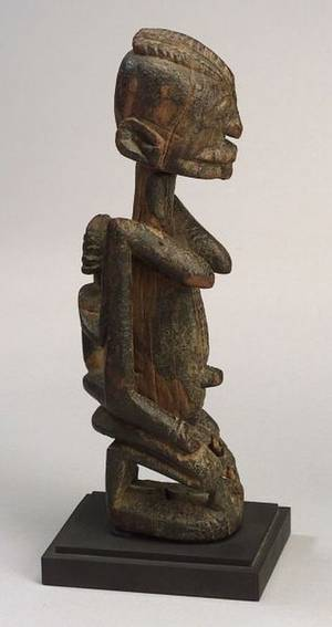 African Carved Wood Maternity Figure