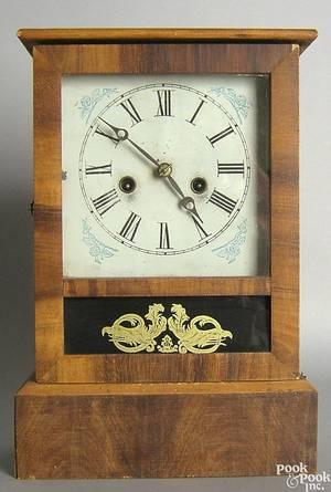 Connecticut pine mantle clock
