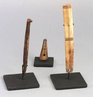 Three Prehistoric Ivory Inuit Items