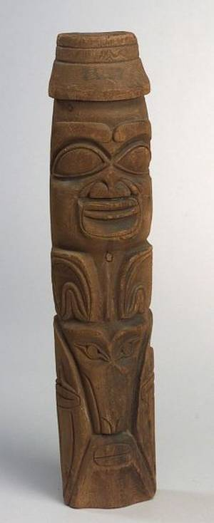 Northwest Coast Carved Wood Totem Pole