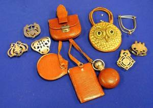 Assortment of Sterling Money Clips and LeatherClad Personal Accessories