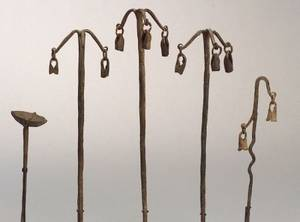 Five African Forged Iron Shrine Objects