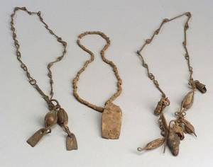 Three African Forged Iron Necklaces