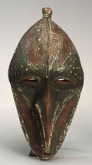 New Guinea Painted Carved Wood Mask