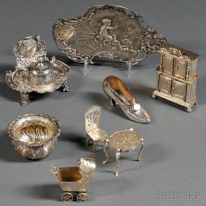Eight Decorative Silver Objects