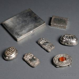 Seven Assorted Silver Boxes