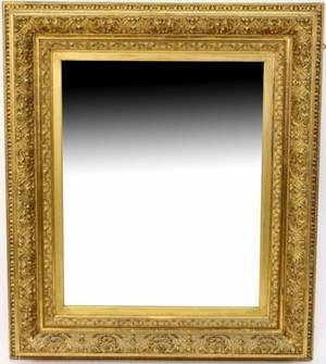 Gilt Wood  Gesso Rectangular Wall Mirror