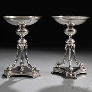 Pair of William Bogert  Co Sterling Silver Compotes