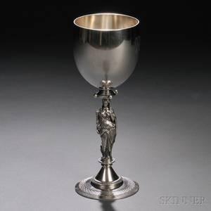 Gorham Coin Silver Figural Goblet