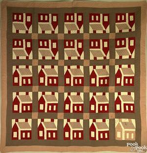 Pennsylvania pieced quilt ca 1900