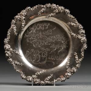 Black Starr  Frost Sterling Silver Presentation Platter